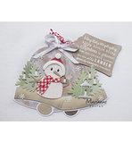 PS8019 Craft stencils Christmas bells by Marleen voorbeeld
