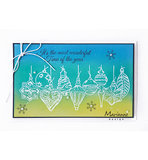 TC0868 -Clearstamps Tiny's border - Christmas baubles voorbeeld