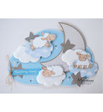 PS8020 Craftstencil Cloud by Marleen