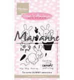 EC0178 Clearstamps Eline's cute animals – bunnies