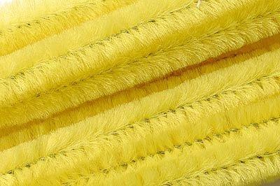 Chenilledraad geel- 50 cm