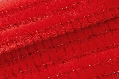 Chenilledraad rood - 50 cm