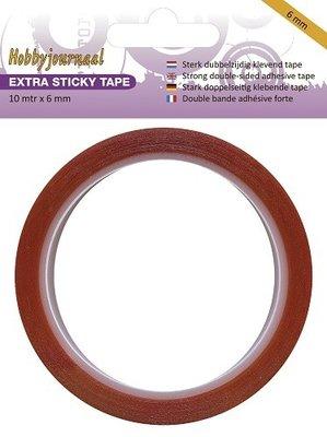 HJSTICKY06 Hobbyjournaal Extra Sticky Tape 6 mm