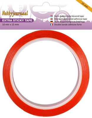 HJSTICKY15 Hobbyjournaal - Extra Sticky Tape - 15 mm