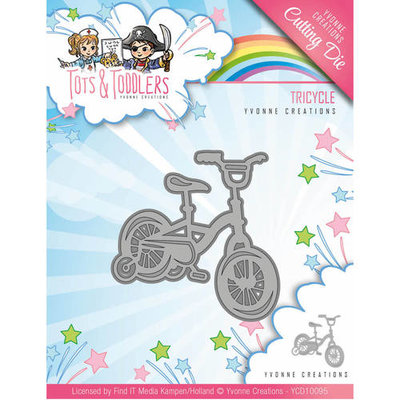 YCD10095 Snijmal Yvonne Creations - Tots and Toddlers - Tricycle