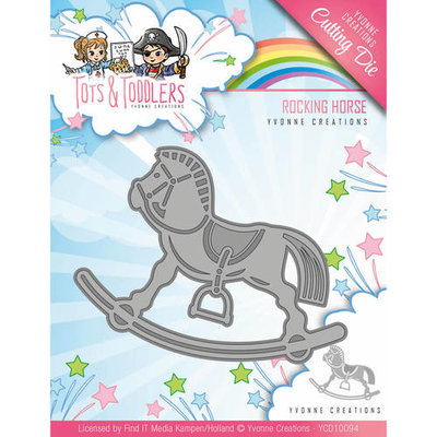 YCD10094 Snijmal Yvonne Creations - Tots and Toddlers - Rocking Horse