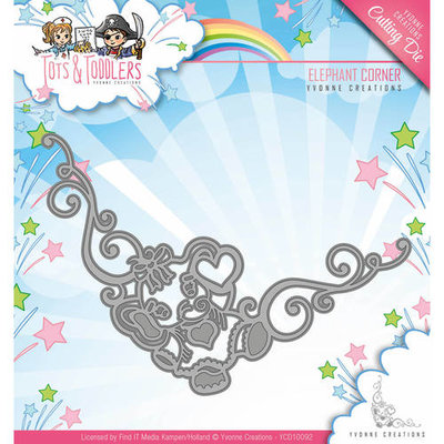 YCD10092 Snijmal Yvonne Creations - Tots and Toddlers - Elephant Corner