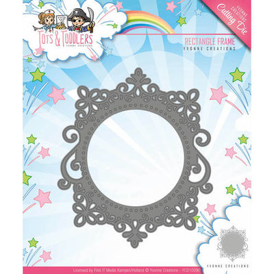 YCD10090 Snijmal Yvonne Creations - Tots and Toddlers - Rectangle Frame
