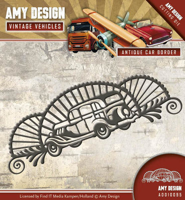 Die - Amy Design - Vintage Vehicles - Antique car border