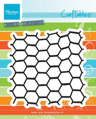 CR1401 Craftables snijmal Chickenwire Marianne Design