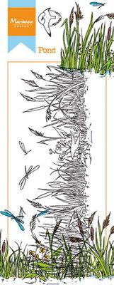 HT1616 Clear Stamp border pond Marianne Design