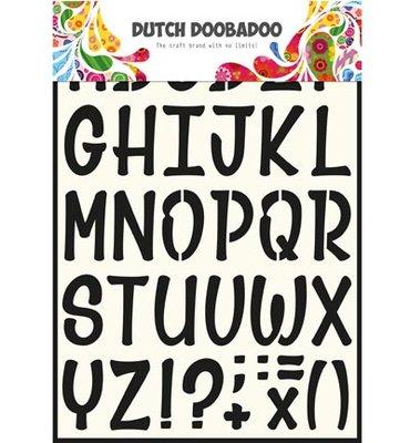 470.990.005 Dutch Doobadoo stencil art alfabet nr. 5
