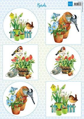 Knipvel vogels 2 Marianne Design VK9554