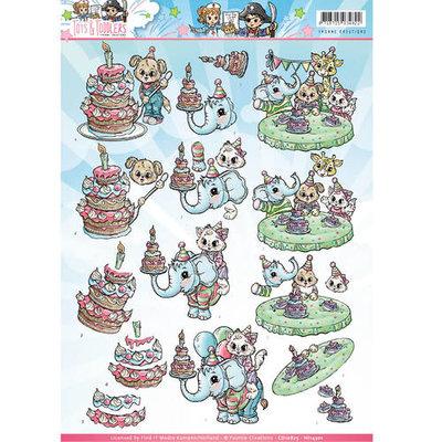 Knipvel Yvonne Creations Tots and Toddlers verjaardag