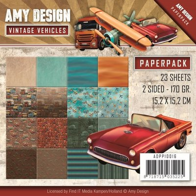 ADPP10016 Paperpack Vintage Vehicles Amy Design