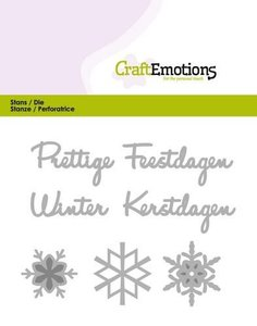 115633-0303 CraftEmotions Die Tekst - Prettige Feestdagen (NL)