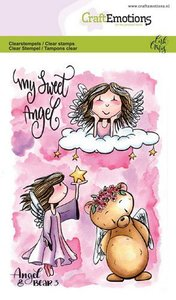 CraftEmotions clearstamps A6 - Angel & Bear 3 Carla Creaties 130501-1646