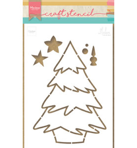 PS8046 Craftstencil Christmas tree by Marleen