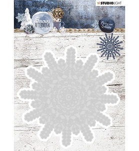 STENCILSA216  Cutting and Embossing Die Cut, Snowy Afternoon nr.216