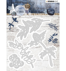 STENCILSA217  Cutting and Embossing Die Cut, Snowy Afternoon nr.217