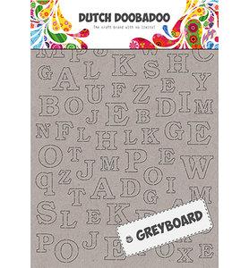 492.500.005 Dutch Doobadoo Greyboard Alphabet