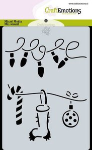 1850070-0118 CraftEmotions Mask stencil Christmas - decorations Carla Creaties