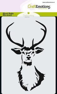 185070-0101 CraftEmotions Mask stencil kop rendier A6