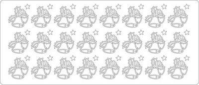Top-Hobby stickers ST-1514-1607-kerstklok goud