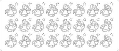 Top-Hobby stickers ST-1514-1607-kerstklok