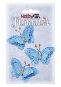 Florella papieren vlinders blauw  3866099