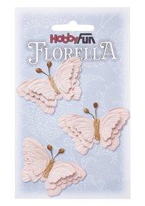 Florella papieren vlinders zachtrose 3866096