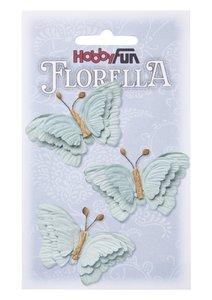 Florella papieren vlinders zachtblauw 3866093