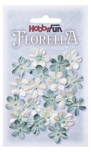 Florella papieren bloemen ca.2cm lichtblauw 3866003