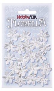 Florella papieren bloemen ca.2cm wit 3866001