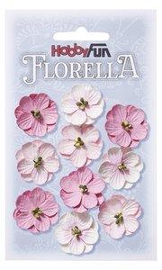 Florella papieren bloemen ca. 2,5 cm rose 3866015