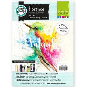2911-8003 Florence • Aquarelpapier smooth White A4 10pcs 300g