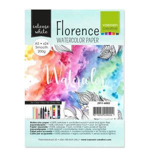2911-6002 Florence • Aquarelpapier smooth Intense White A5 24pcs