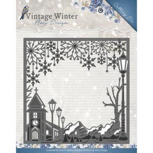 ADD10120 Die - Amy Design - Vintage Winter - Village Frame Square