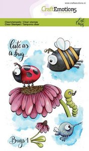 Clearstamps A6 - Bugs 1 Carla Creaties CraftEmotions 130501/1631