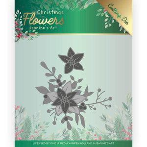 Dies - Jeanines Art Christmas Flowers - Poinsettia Corner JAD10107
