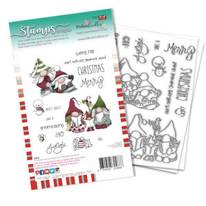 PD8096A Polkadoodles stamp Gnome-Azing Christmas
