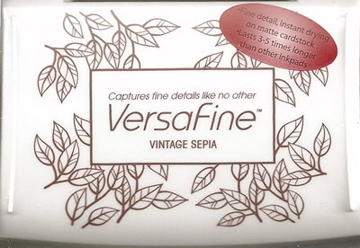 Versafine stempelinkt Vintage Sepia