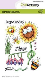 CraftEmotions clearstamps A6 - Bugs & flowers 3 Carla Creaties 130501-1697