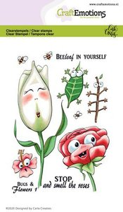 CraftEmotions clearstamps A6 - Bugs & flowers 1 Carla Creaties
