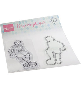 HT1662 Clearstamps and die  Hetty's Soccer player
