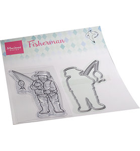 HT1663 Clearstamps and die Hetty's Fisherman