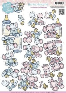 CD10460 knipvel Yvonne Creations baby