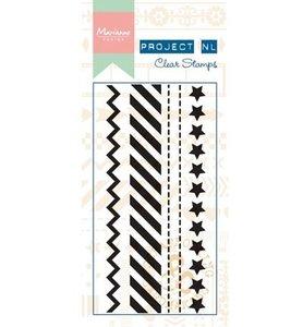 PL1504 Clear stempel Borders - Stars Project NL
