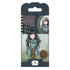 GOR 907304 Mini Rubber Stamp - Santoro - No. 4 Forget Me Not
