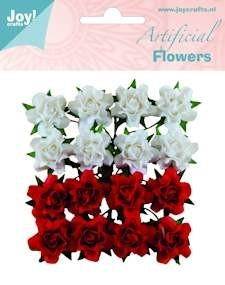 6370-0067 Joy! Artificial Flowers wit-rood